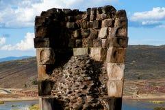 Sillustani Burial Ground. Puno - Peru royalty free stock photography