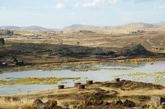 Sillustani Burial Ground. Puno - Peru stock images