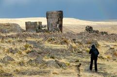 Sillustani Burial Ground. Puno - Peru royalty free stock images