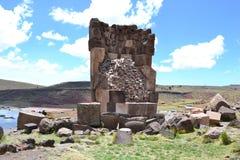 Sillustani Chullpas, Peru Arkivbild