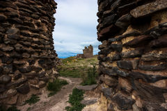 Sillustani Funeral Tower. Andes, Peru Royalty Free Stock Images