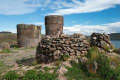 Sillustani Inca Ruins, Peru Travel Fotografie Stock Libere da Diritti