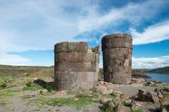Sillustani inka ruiny, Peru podróż Zdjęcie Stock