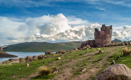 Sillustani. Old Tombs in Sillustani at Puno City Royalty Free Stock Photos