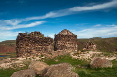 Sillustani. Old Tombs in Sillustani at Puno City Stock Images