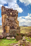 Sillustani - pre-Incan burial ground (tombs) on the shores of La Stock Photography