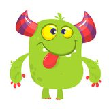 Silly cool cartoon monster. Vector illustration. Silly cool cartoon monster. Vector illustration stock illustration