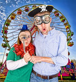 Silly couple. A silly couple at the state fair Royalty Free Stock Photo