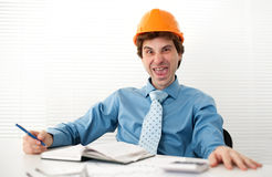 Silly crazy Engineer Royalty Free Stock Image