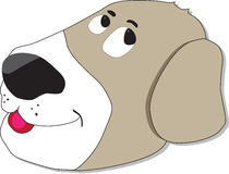 Silly dog face. Cartoon brownish dog with a silly face Stock Images