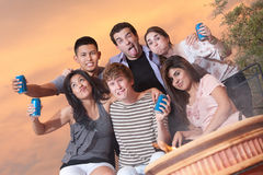 Silly Drinking Buddies Royalty Free Stock Photos