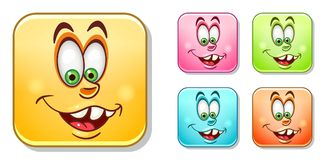 Silly Emoticons Collection Stock Images
