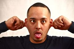 Silly expression Stock Photography