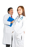 Silly Expressions Asian Female Hispanic Doctors Stock Images
