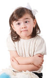 Silly Face. Face of funny young girl with eyes crossed stock image