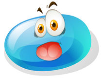 Silly face on jelly bean Royalty Free Stock Photos