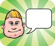 Silly face with speech bubble. Vector illustration of Silly face with speech bubble. Easy-edit layered vector EPS10 file scalable to any size without quality Stock Images