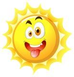 Silly face on the sun Stock Photo