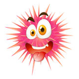 Silly face on thorny ball. Illustration royalty free illustration