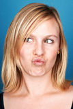 Silly face woman Royalty Free Stock Photography