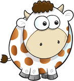 Silly Farm Cow Vector Stock Photography