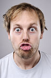 Silly funny face Royalty Free Stock Images