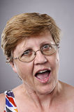 Silly funny face royalty free stock photo