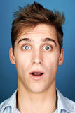 Silly funny man. Funny face man portrait real silly fun expression Stock Image