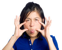 Silly girl Royalty Free Stock Image