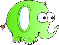 Silly goofy Elephant Vector Stock Photography