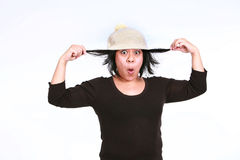 Silly hispanic woman Stock Images
