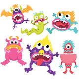 Silly Litter Monsters Set Stock Photo