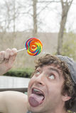 Silly Lollipop Royalty Free Stock Photo