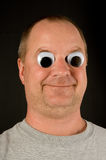 Silly Man. A silly man with wiggly googly eyes Stock Photography