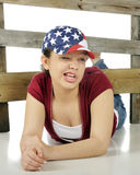 Silly Patriot Royalty Free Stock Photography