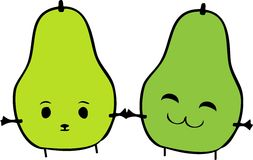 Silly Pears Stock Image
