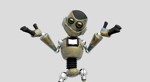 Silly robot Royalty Free Stock Photography