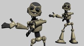 Silly robot Royalty Free Stock Image