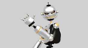 Silly robot angry Royalty Free Stock Images