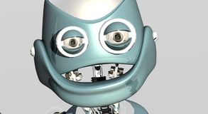 Silly robot portrait Royalty Free Stock Images