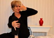 Silly Senior Citizen Woman Royalty Free Stock Photos