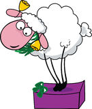 Silly sheep. Vector illustration of a silly sheep stock illustration