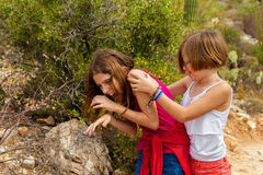 Silly Sister Fight Royalty Free Stock Images