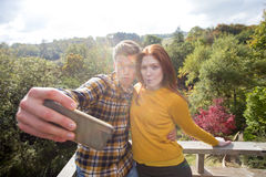 Silly Smartphone Selfie Stock Photos