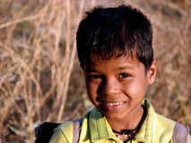 Silly Smiles. A young Indian boy with a silly but sweet smile Royalty Free Stock Photo