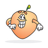 Silly smiling peach. Happy goofy looking Royalty Free Stock Photos