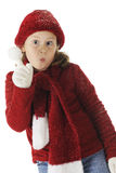 Silly Snow Girl Royalty Free Stock Photography