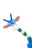 Silly toy giraffe with big ears and long neck Stock Image