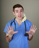 Silly Young Doctor Stock Images