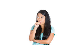 A silly young teenager sucking thumb Royalty Free Stock Photos